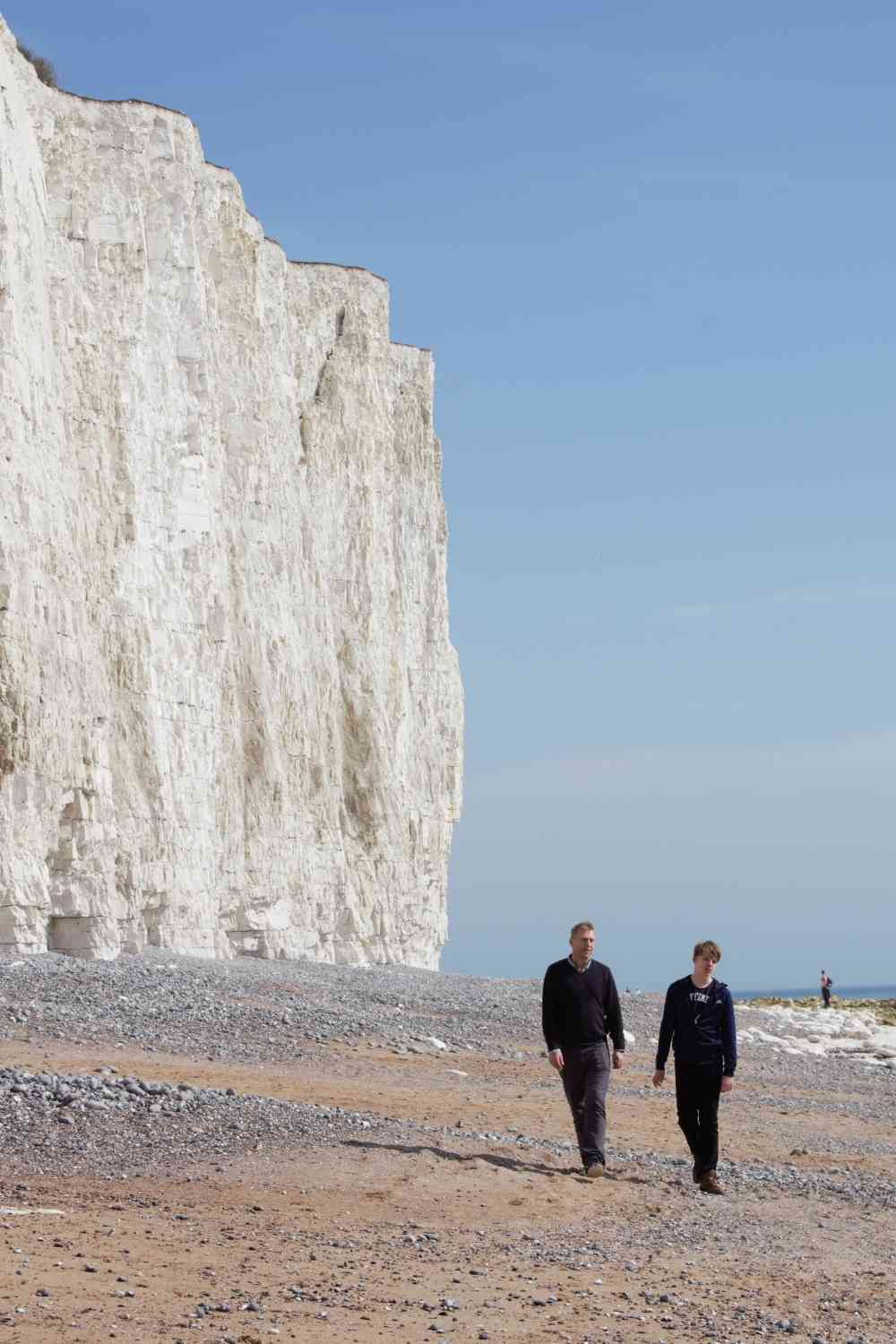 South Downs Tours - Sheer Cliffs from beach at Birling Gap